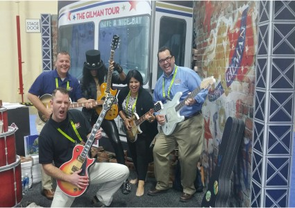 Team Gilman had a rockin' time in Vegas at our 80s Rock and Roll booth made entirely of 100% Recyclable INFINITY styrene-faced foamboard.
